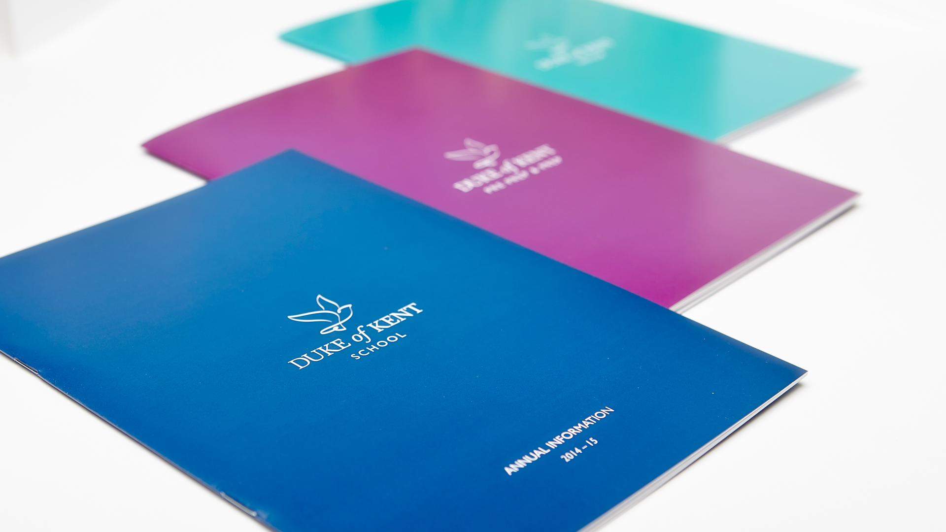 Duke Of Kent School branded logo prospectus layout no cover