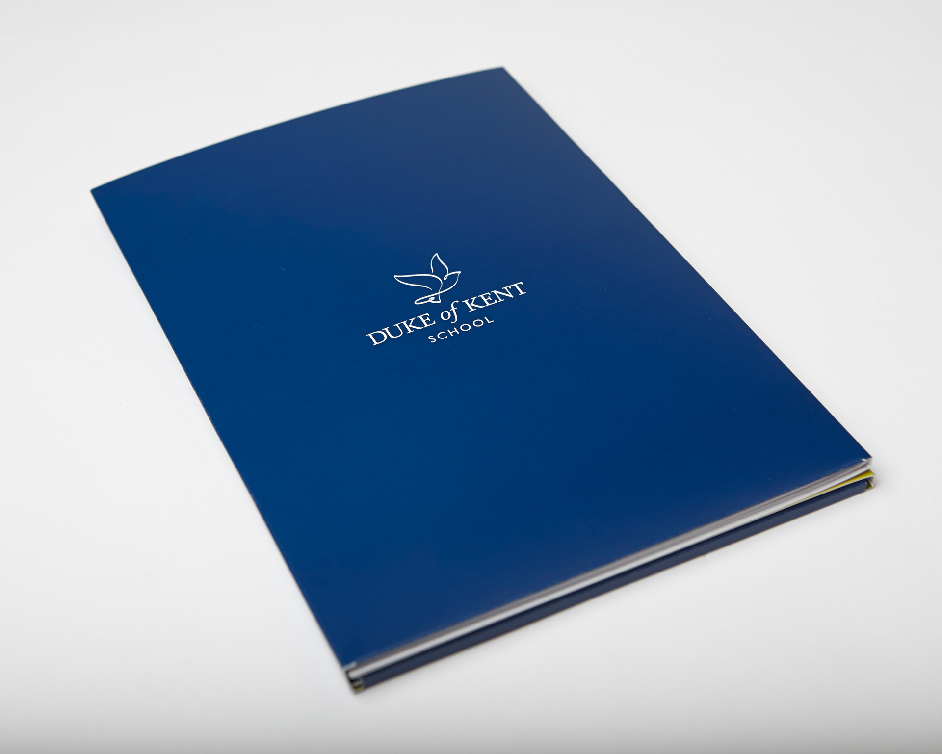 Duke Of Kent branded logo prospectus booklet blue