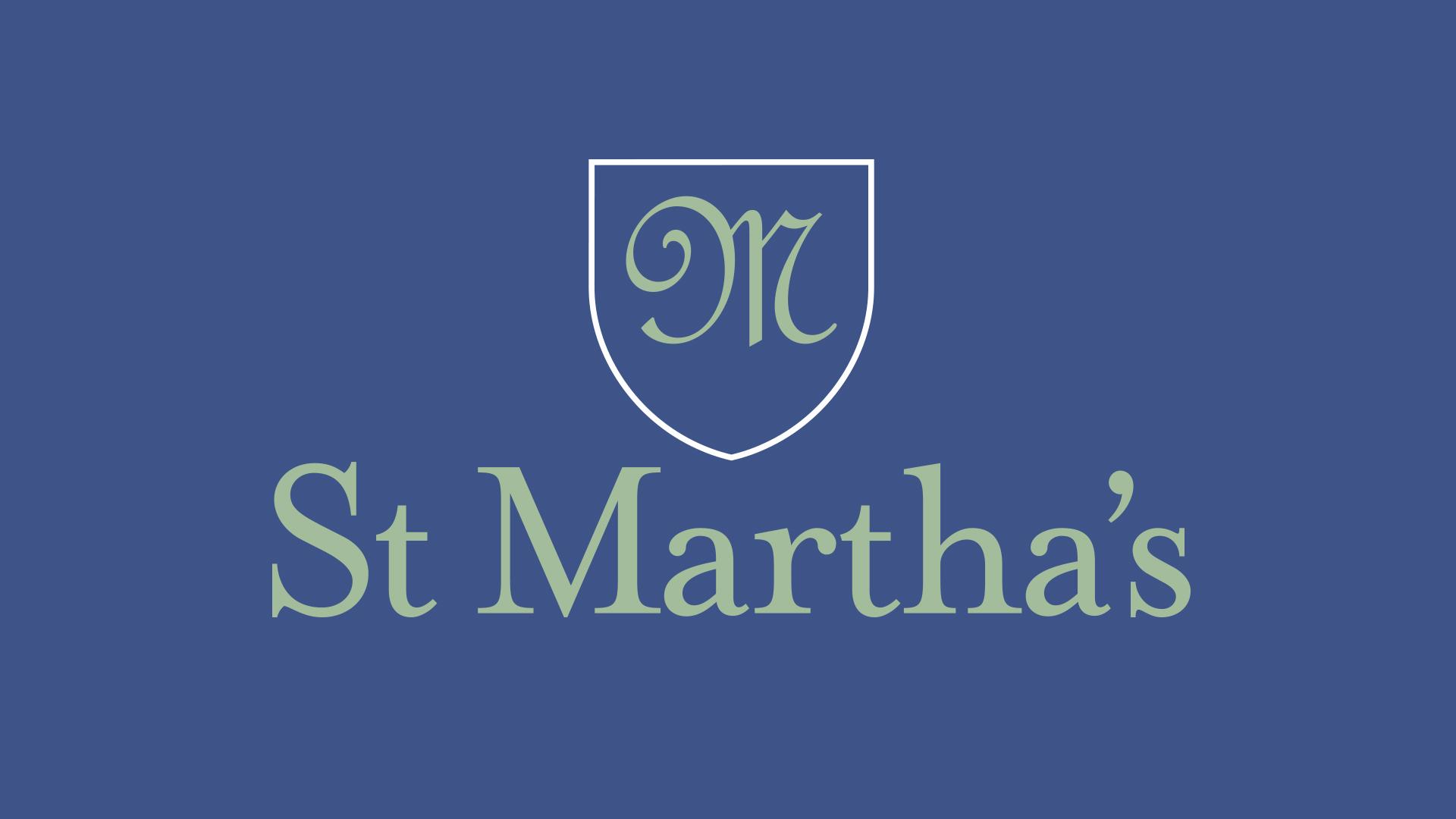 St Marthas School branded logo