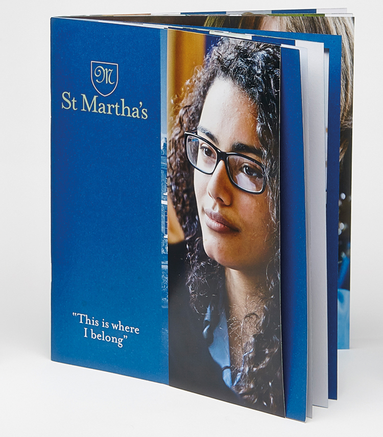 St Marthas School prospectus with removable cover