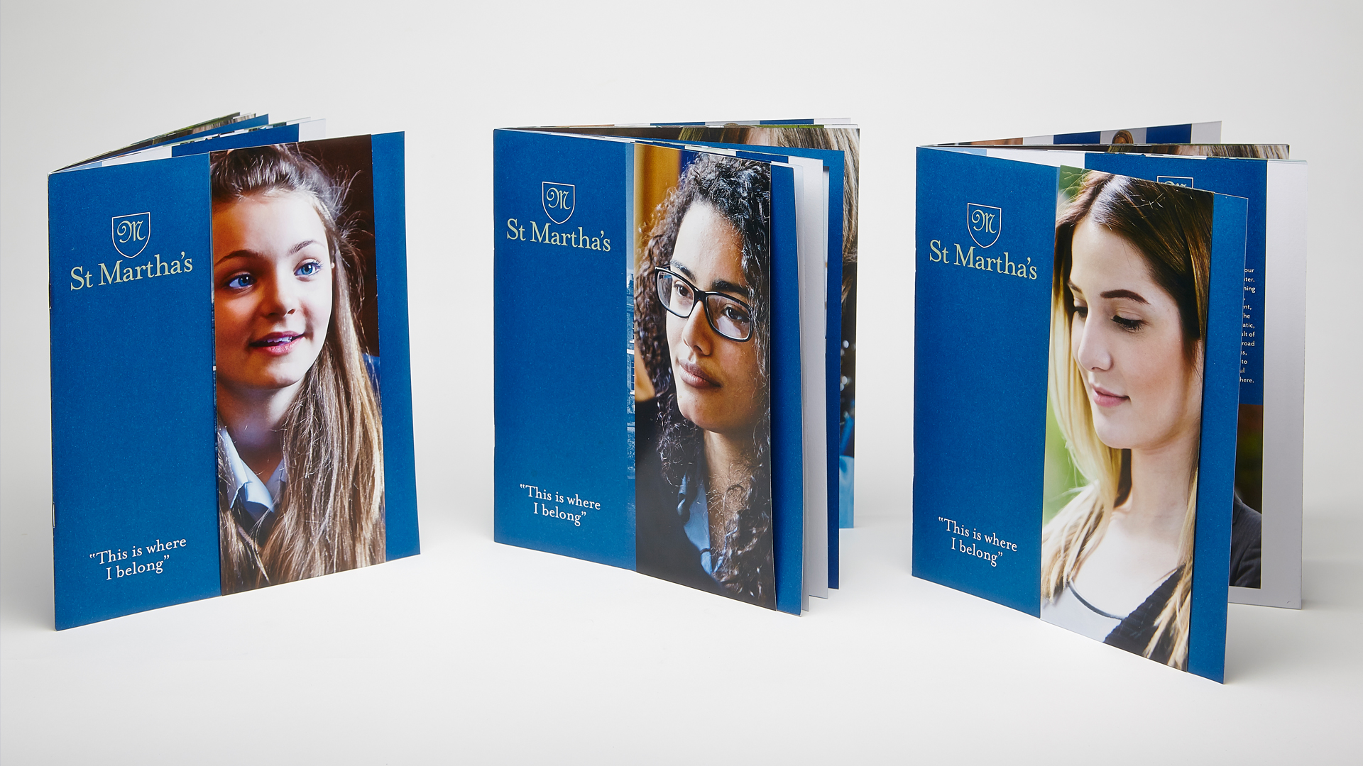 St Marthas School removable cover prospectus blue